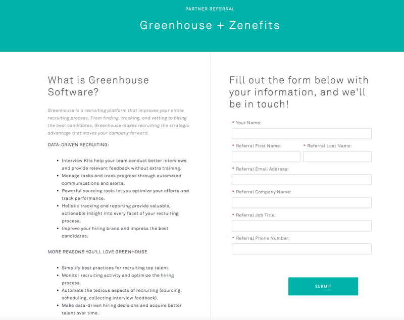 Greenhouse Signup