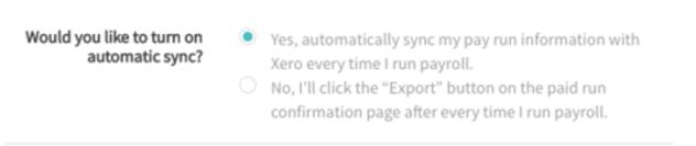 PYP Accounting Integration Sync Settings