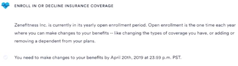 additional enrollment task