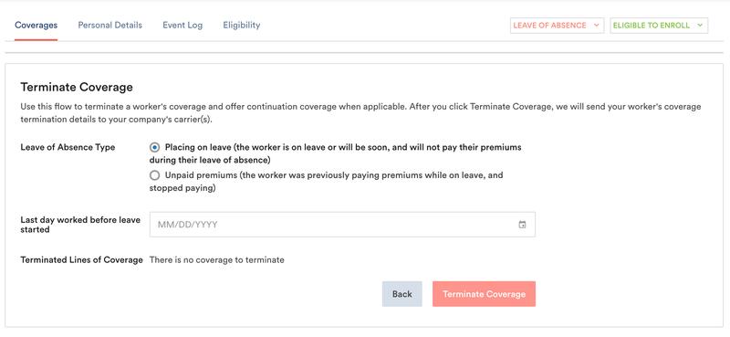 term types benadmin app