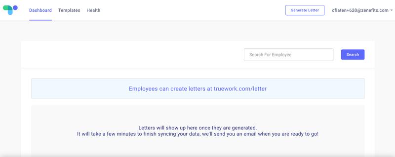 truework employee letter