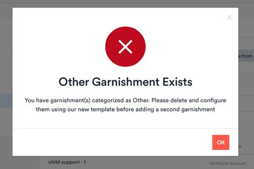 Other Garnishment