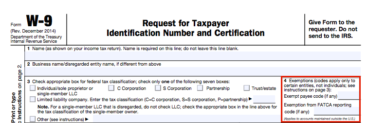 Payee Exempt Codes for Contractors